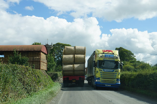 Passing trucks at Chirbury