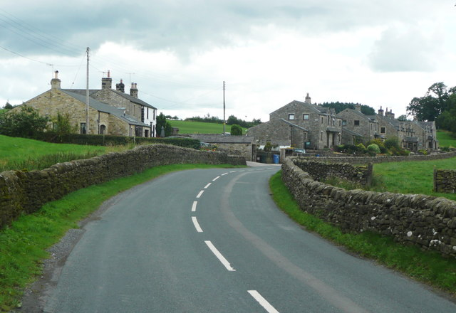 The B6478 on the outskirts of Wiggleswoth village