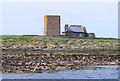 NU2337 : Tower and House on Brownsman Island by Des Blenkinsopp