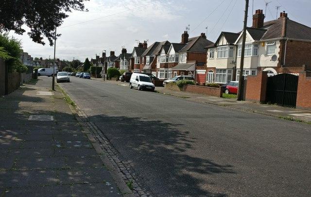 Alvaston Road in Rowley Fields, Leicester