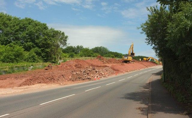 Road widening, Smallcombe Cross