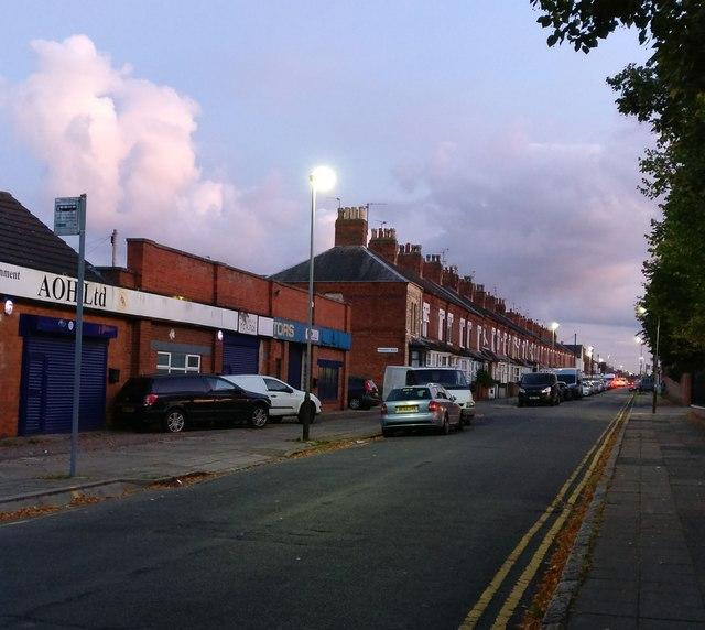 Milligan Road in Aylestone Park, Leicester