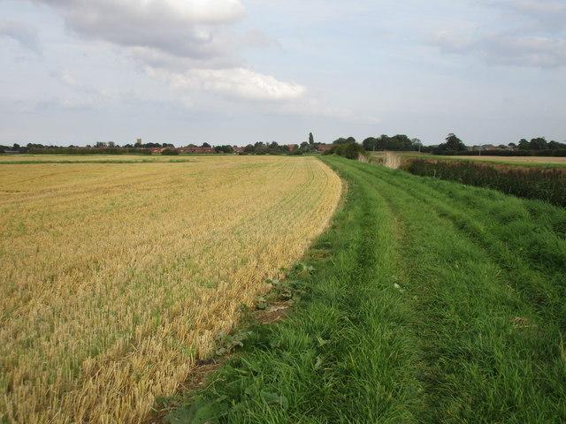 Bridleway alongside Burstwick Drain