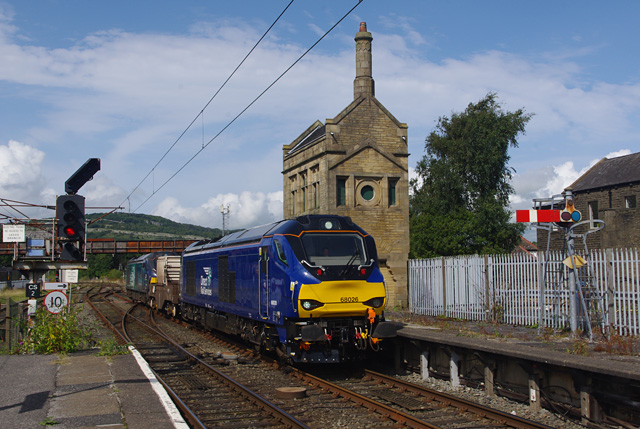 Freight train at Carnforth