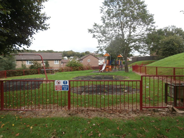 Children's play area, Clos Gronw, Blackwood