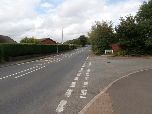 Bryn Rd, Blackwood, at the junction with Gordon Rd
