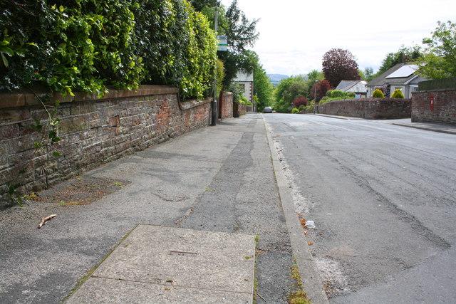 Wall of 'Fir Bank', Fell Lane