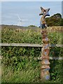 TQ6004 : National Cycle Network Milepost, Polegate by Oast House Archive