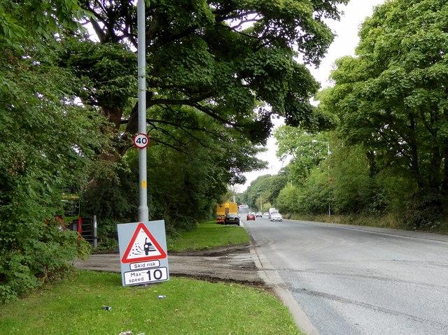The A6 near Heath Charnock