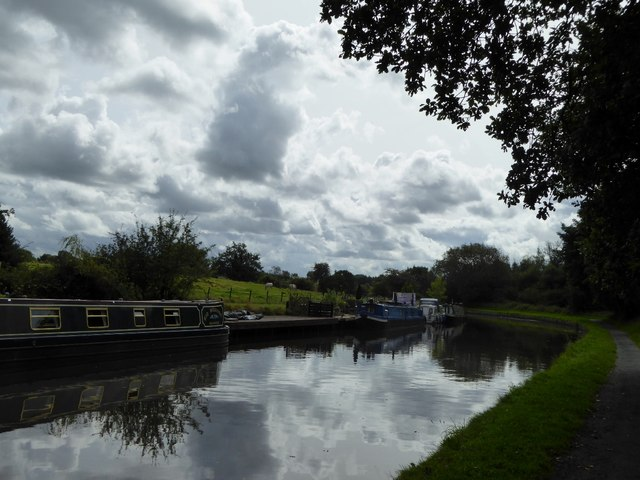 Canal under a glowering sky
