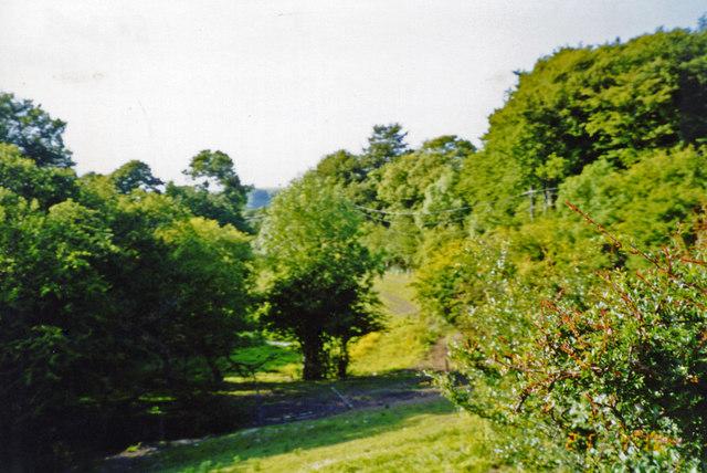 Llangybi, NE on track-bed of Aberystwyth - Carmarthen line, 2003