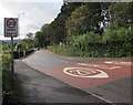 ST0088 : Start of the 20 zone at the northern end of Tynybryn Road, Tonyrefail by Jaggery