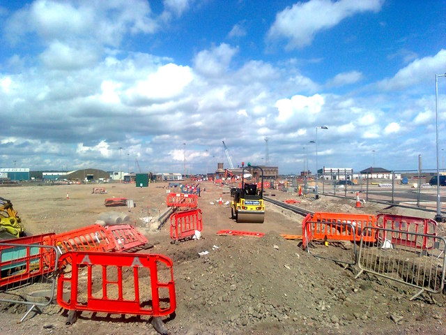 New road in Chatham Docks