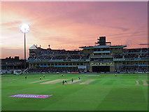 SK5838 : Trent Bridge Cricket Ground: pink sky by John Sutton