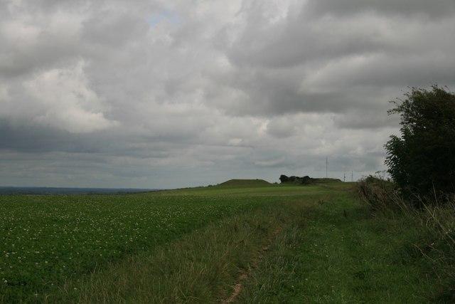 Looking towards the reservoir on the South Dorset Ridgeway