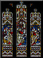 TF2569 : Clerestory Stained glass window, St Mary's church, Horncastle by Julian P Guffogg