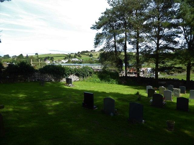 Looking from the churchyard towards Urswick Tarn