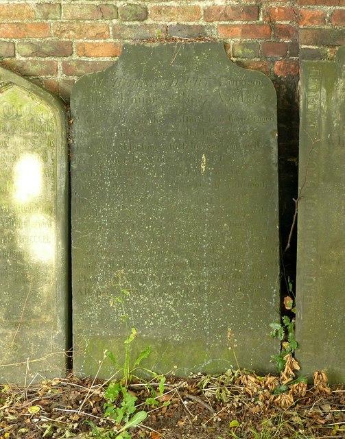 Mr Fry's gravestone in St Mary's Churchyard