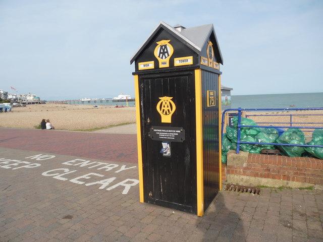 AA Telephone Box near the Wish Tower