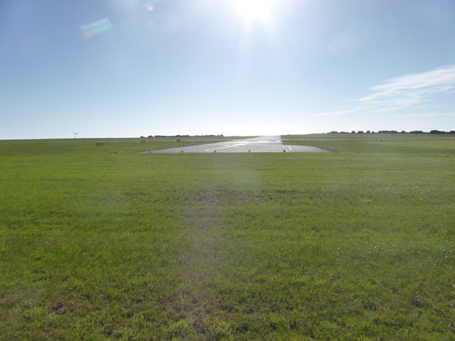 Eastern end of the SW runway at Land's End Airport