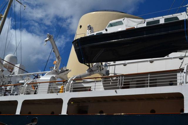 Detail of the Royal Yacht Britannia