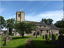 SD7336 : St Mary & All Saints, Whalley: churchyard (a) by Basher Eyre