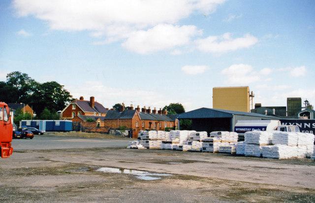 Site of Llansantffraid station, 1999