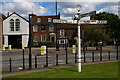 TQ2993 : Southgate Green, with pre-Worboys direction sign by Christopher Hilton