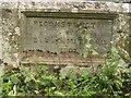 NZ1387 : Inscribed stone on bridge crossing Nunriding Burn by Graham Robson