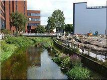 SJ9223 : River Sow from Bridge Street bridge by Alan Murray-Rust