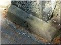SJ9222 : Bench mark, St Paul's Church, Lichfield Road, Stafford by Alan Murray-Rust