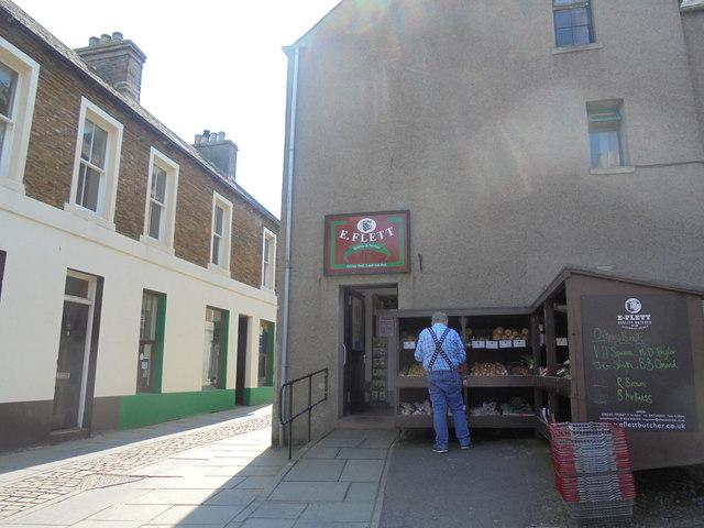 Flett's butcher's shop, 63 John Street, Stromness, Orkney