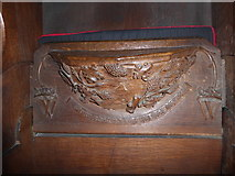 SD7336 : St Mary & All Saints, Whalley: misericord carving (v) by Basher Eyre