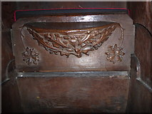 SD7336 : St Mary & All Saints, Whalley: misericord carving (xvii) by Basher Eyre