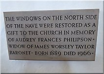 SD7336 : St Mary & All Saints, Whalley: memorial (II) by Basher Eyre