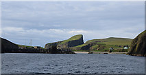 HZ2272 : Sea Entrance to North Vaven, Fair Isle by Donald MacDonald