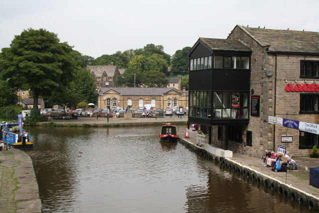 Skipton:  View north from Belmont Bridge