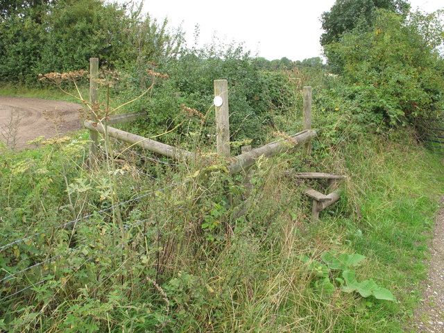 Official route of public footpath overgrown