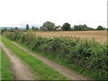 SP7202 : Track and houses near Manor Farm Sydenham by David Hawgood