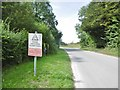 ST9648 : Imber, warning sign by Mike Faherty