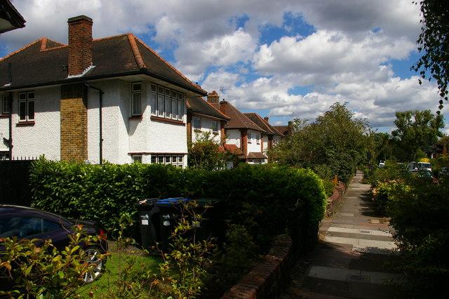 Suburban housing, Meadway, Southgate