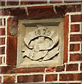 TM3893 : Datestone on a house in Bungay Road by Evelyn Simak