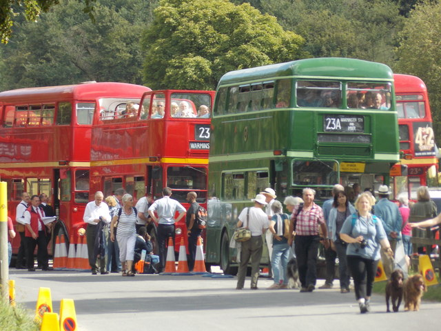 Imber: London buses await departure