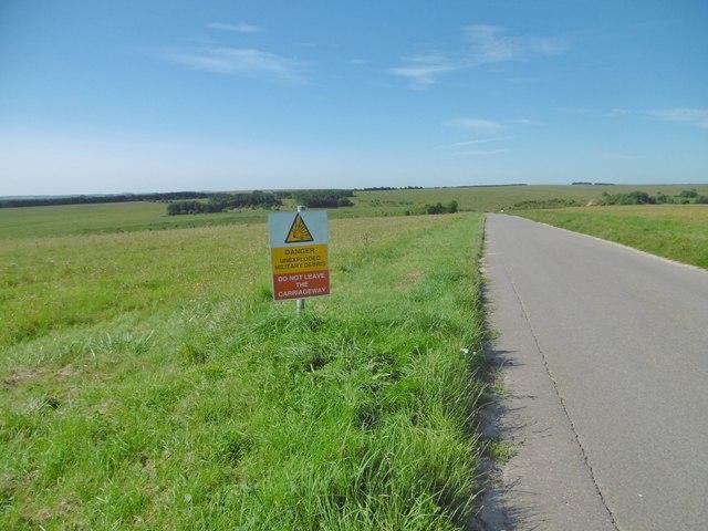 West Lavington, warning sign