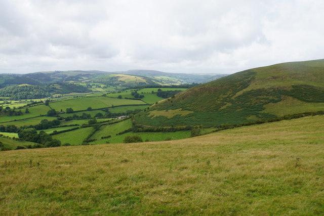 Hillside below Cwm-sanaham Hill