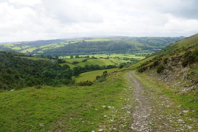 Track below Cwm-sanaham Hill