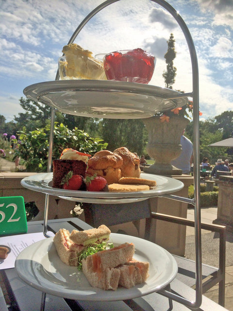 Afternoon teatime at the Petwood Hotel