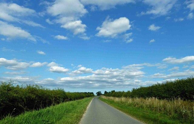 Lincolnshire blue sky