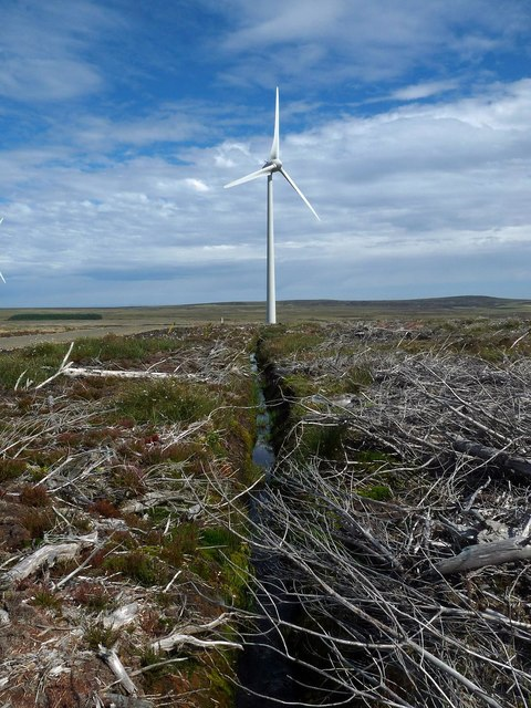 Drainage ditch, Stroupster Wind Farm, Caithness