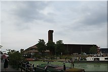 TQ3784 : View of the Olympic Park Energy Centre from the River Lea towpath by Robert Lamb